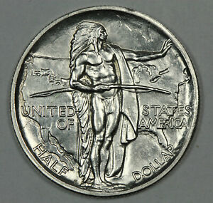 BRILLIANT UNCIRCULATED 1926 S OREGON TRAIL COMMEMORATIVE SILVER HALF DOLLAR 50C