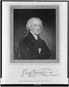 PHOTO:GEORGE CLYMER / JAMES BARTON LONGACRE ENGRAVER 1820'S