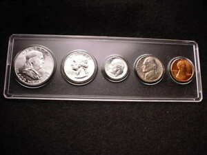 1960  SMALL DATE  PHILADELPHIA 5 COIN MINT SET ALL BU COINS 90  SILVER      1
