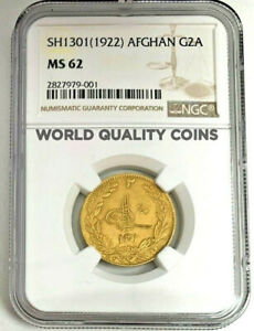 Click now to see the BUY IT NOW Price! SH1301/1922 AFGHANISTAN GOLD COIN 2 AMANI AMANULLAH NGC MS62