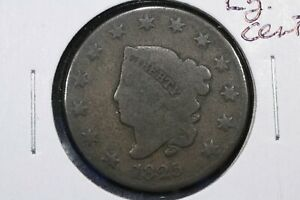 1825 CORONET HEAD LARGE CENT  ABT. G/GOOD