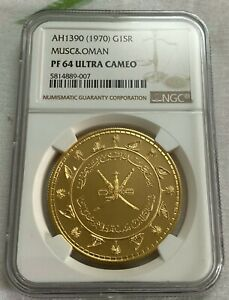Click now to see the BUY IT NOW Price! MUSCAT & OMAN AH1390 GOLD 1 SAIDI RIAL NGC PF64UC