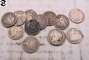 1  BUST OR SEATED HALF DIME // RANDOM DATE // 90  SILVER // 1 COIN