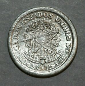 BRAZIL 1957   20 CENTAVOS  NATIONAL ARMS  19.3MM FOREIGN COIN
