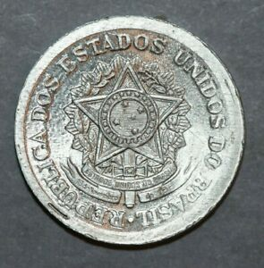 BRAZIL 1957   50 CENTAVOS  NATIONAL ARMS  21.2MM FOREIGN COIN