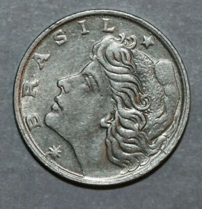 BRAZIL 1967 1 CENTAVO  LIBERTY  17MM FOREIGN COIN