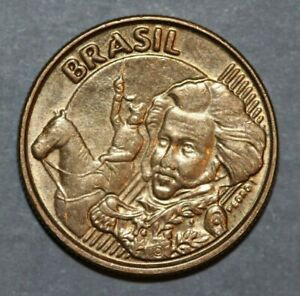 BRAZIL 2015  10 CENTAVOS  PEDRO I  20MM FOREIGN COIN