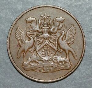 TRINIDAD & TOBAGO   1967  5 CENTS   NATIONAL ARMS   21.1MM FOREIGN COIN