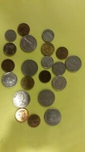 COIN COLLECTION.21 IN LOT. CARIBBEAN ISLANDS