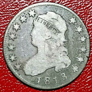 1818 CAPPED BUST QUARTER NORMAL DATE