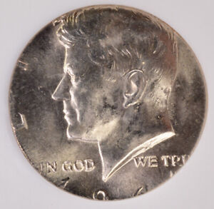 Click now to see the BUY IT NOW Price! NGC 50C 1964 KENNEDY HALF TRANSITIONAL OFF METAL ON CLAD QUARTER PLANCHET MS64