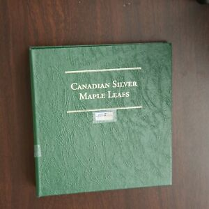 Click now to see the BUY IT NOW Price! 27 CANADIAN SILVER MAPLE LEAFS IN COLLECTION BOOK 1988 2006 1 OZ. .999 BULLION