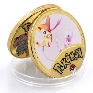 POKEMON  COMMEMORATIVE 24K GOLD FOIL METAL CHALLENGE COIN GAME COIN FOR KID