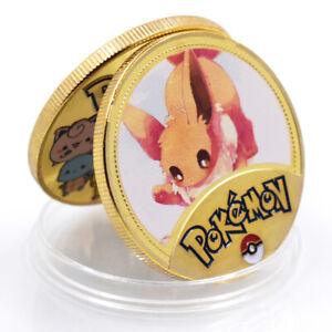 VULPI POKEMON 24K GOLD COMMEMORATIVE CHALLENGE COINS ART ORNAMENT