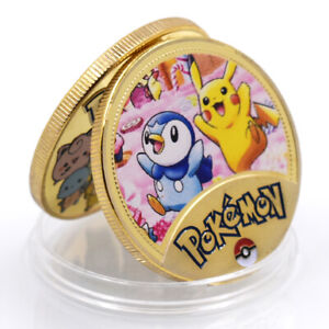 HOLIDAY GIFT PIKACHU POKEMON COMMEMORATIVE 24K GOLD FOIL METAL CHALLENGE COIN