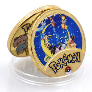 HOLIDAY GIFT POKEMON POKEMONED PLUSH DOLL COMMEMORATIVE 24K GOLD FOIL METAL COIN