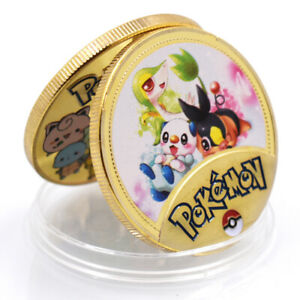 AMINE POKEMON AMAZING   COMMEMORATIVE 24K GOLD FOIL METAL COIN ART CRAFT