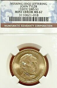 Click now to see the BUY IT NOW Price! 2009 JOHN TYLER PRES. DOLLAR NGC MS 67 SMS MISSING EDGE LETTERING