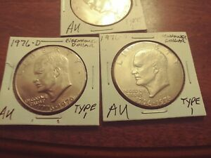 1776 1976 D EISENHOWER DOLLAR  TYPE 1  2 LEFT @ $1.99 EA.