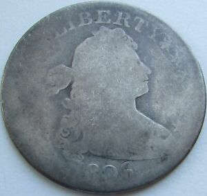 1806 DRAPED BUST QUARTER IN A SAFLIP   1806/5 VARIETY