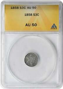 1882 THREE CENT NICKEL VF20 ANACS