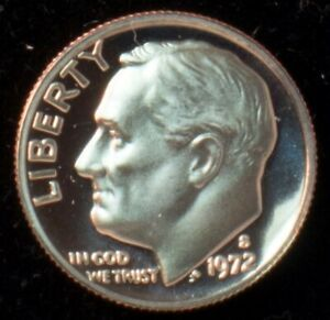 1972 S GEM BU PROOF ROOSEVELT DIME 10 CENT BRILLIANT UNCIRCULATED US COIN PF