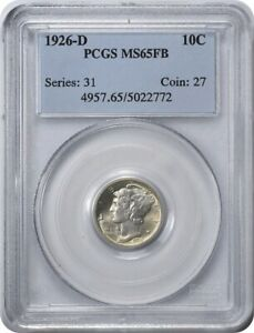 Click now to see the BUY IT NOW Price! 1926 D MERCURY SILVER DIME MS65FB PCGS
