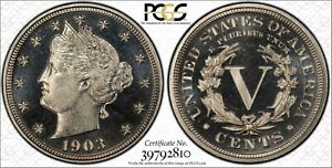 Click now to see the BUY IT NOW Price! 1903 LIBERTY NICKEL PROOF CAMEO PCGS PR68CAM TOP POP