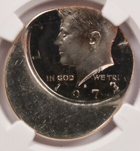 Click now to see the BUY IT NOW Price! NGC 50C 1973 S PROOF KENNEDY HALF DOUBLE STRUCK 35  OFF CENTER PF 63