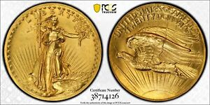 1907 PCGS GENUINE UNC DETAILS / $20 HIGH RELIEF DOUBLE EAGLE GOLD / UPGRADE ??