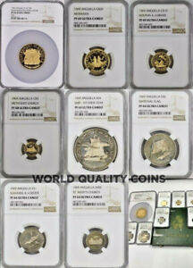 Click now to see the BUY IT NOW Price! ANGUILLA 1969 SET 8 GOLD SILVER COINS NGC PF64 69