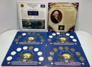 COLLECTIBLE PRESIDENTIAL COINS WASHINGTON PORTRAIT DOLLAR & DELAWARE STATE QTRS