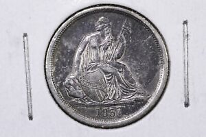 1837 SEATED LIBERTY DIME NO STARS LIVELY LUSTROUS XF  /AU