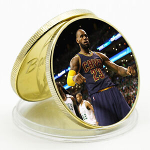 2021 NEW YEAR GIFT  LEBRON JAMES COMMEMORATIVE LUCKY GOLD CHALLENGE COIN