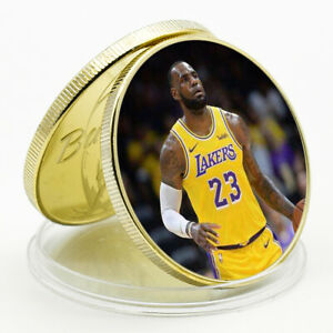 CHRISTMAS GIFT  LEBRON JAMES COMMEMORATIVE LUCKY GOLD PLATED METAL COIN
