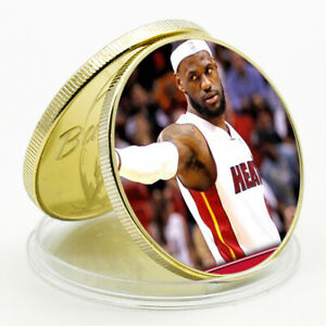 CHALLENGE COIN LEBRON JAMES COMMEMORATIVE LUCKY GOLD COIN CHALLENGE COIN