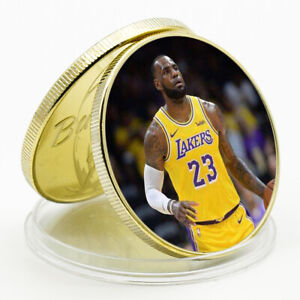 ART ORNAMENT LEBRON JAMES COMMEMORATIVE LUCKY GOLD PLATED METAL COIN ART CRAFT