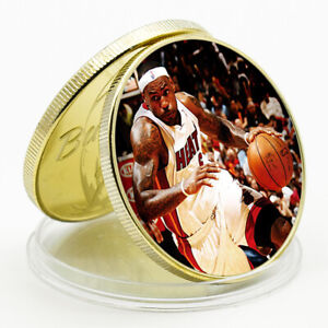 CHALLENGE COIN LEBRON JAMES COMMEMORATIVE LUCKY GOLD CHALLENGE COIN HOLIDAY GIFT