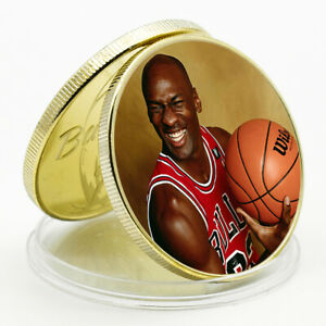 CHALLENGE COIN MICHAEL JORDAN COMMEMORATIVE LUCKY GOLD PLATED METAL COIN