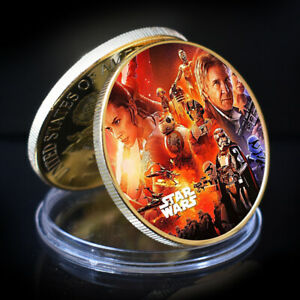 BUSINESS GIFT CHALLENGE COIN  STAR WAR GOLD COLLECTIBLE COMMEMORATIVE COIN