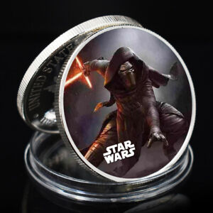 2021 NEW YEAR GIFT STAR WAR SLIVER COLLECTIBLE COMMEMORATIVE CHALLENGE COIN