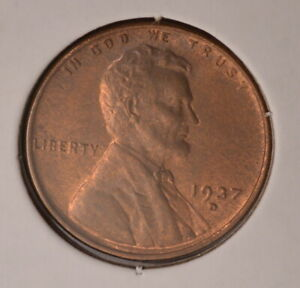 1937D USA WHEAT CENT   UNCIRCULATED   INV X 720