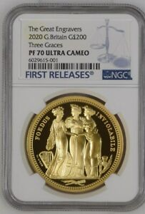 Click now to see the BUY IT NOW Price! 2020 ROYAL MINT THREE GRACES GOLD PROOF 2 OUNCE NGC PF70UC COA AND ORIGINAL BOX
