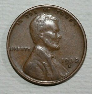 1938 S LINCOLN CENT