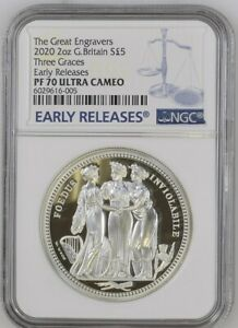 Click now to see the BUY IT NOW Price! 2020 ROYAL MINT THREE GRACES SILVER PROOF 2 OUNCE NGC PF70UC COA ORIGINAL BOX