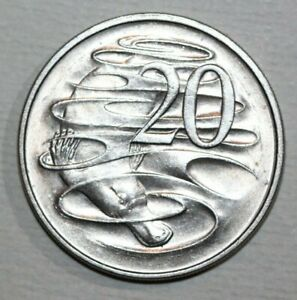 AUSTRALIA 1966  20 CENTS  DUCKBILL PLATYPUS   28.4MM FOREIGN COIN