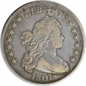 1801 BUST DOLLAR VF  PLUGGED  UNCERTIFIED