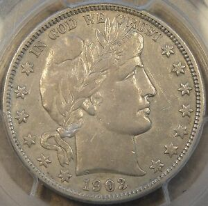 1903 O BARBER HALF DOLLAR 50C PCGS CERTIFIED VF 35 TALK ABOUT UNDERGRADED