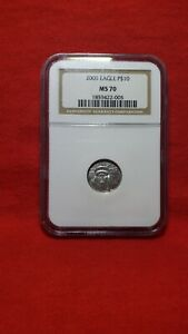 2005 EAGLE P$10 PLATINUM COIN NGC MS 70