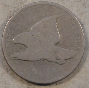 1858 SL FLYING EAGLE CENT SMOOTH LOWER GRADE
